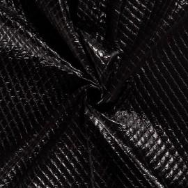 Tissu Matelassé aspect vinyle coloris Noir