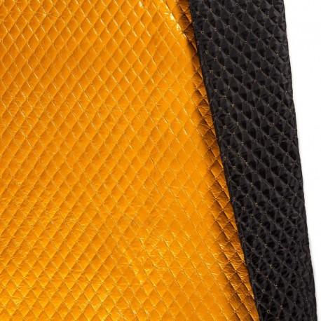 Tissu Matelassé aspect vinyle coloris Jaune moutarde