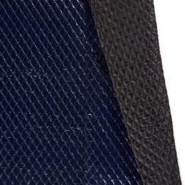 Tissu Matelassé aspect vinyle coloris Bleu marine