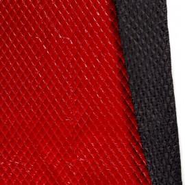 Tissu Matelassé aspect vinyle coloris Rouge
