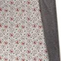 Tissu Sweat envers Minky motifs Renards et lapins fond gris - oeko tex