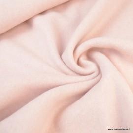 Tissu Polaire Bio en coton coloris Rose - Gots