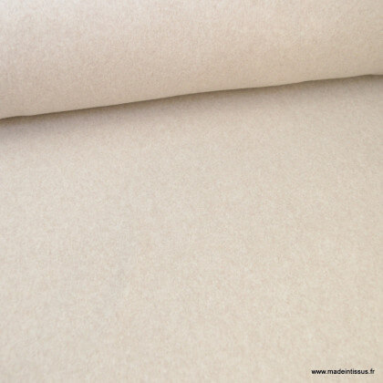 Tissu Polaire Bio en coton coloris Taupe - Gots