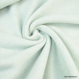 Tissu Polaire Bio en coton coloris Menthe