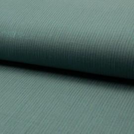 Tissu Double gaze à rayures Lurex fond Céladon