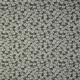 Tissu jersey motifs fleurs fond Tilleul - Oeko tex
