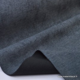 tissu ALASKA occultant isolant thermique anthracite x50cm