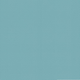 Tissu coton Enduit motifs Pois blanc fond Sauge -  Oeko tex