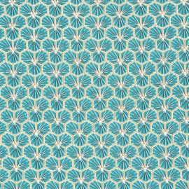 Tissu coton imprimé Riad lagon - Oeko tex