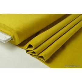 Tissu velours ras coton safran pour confection pantalon x50cm