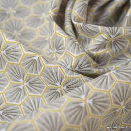 Tissu coton imprimé Riad Taupe - Oeko tex