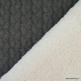 Tissu Jersey Torsadé envers doudou coloris Gris