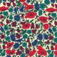 Tissu Liberty Poppy and Daisy Bleu, vert et rouge
