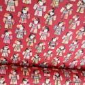Tissu coton motifs Geishas japonais Rouge - oeko tex