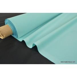 Tissu imperméable étanche polyester enduit acrylique turquoise .