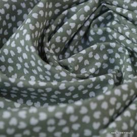 Tissu coton Motif Lipelo fond Thym - Oeko tex