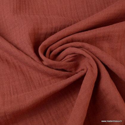 Tissu Double gaze coton Tomette - oeko tex