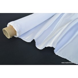 Tissu Doublure satin blanc polyester premier prix .x1m