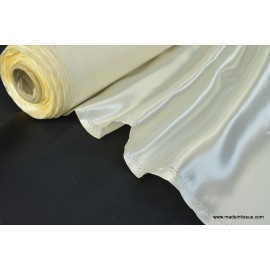 Tissu Doublure satin ivoire polyester premier prix .x1m