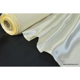 Doublure satin ivoire polyester premier prix x50cm