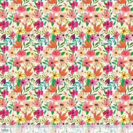 Tissu Coton imprimé Fleurs collection Forest Friends by Blend Fabrics