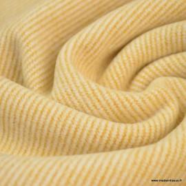 Tissu Lainage rayures Moutarde pour caban ou manteau