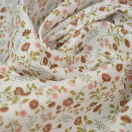tissu coton imprimé fleurs et fleurettes Tomette et thym