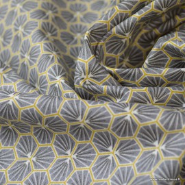Tissu coton Riad Enduit coloris Ardoise Oeko tex