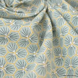 Tissu coton imprimé Riad Amande - Oeko tex