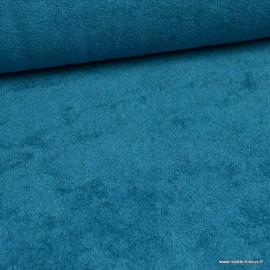 Tissu Eponge de bambou Bleu lagon