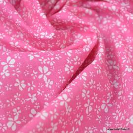 Tissu coton motif Fleurs Difatti Begonia - Oeko tex