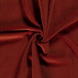 Tissu Velours cotelé grosses côtes Brique