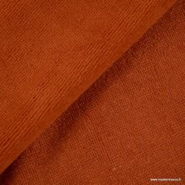Tissu micro éponge de bambou Brique - oeko tex