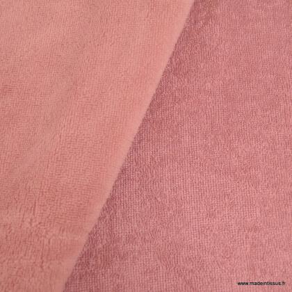 Tissu micro éponge de bambou Vieux Rose - oeko tex