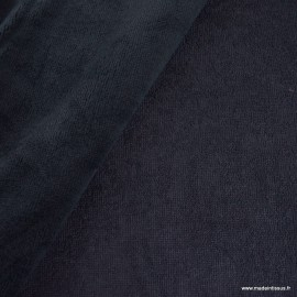 Tissu micro éponge de bambou Marine - oeko tex