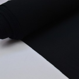 Tissu ultra doux Jersey en viscose Bambou coloris Noir . x1m