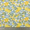 Tissu Liberty Betsy Berry jaune et vert  - Oeko tex