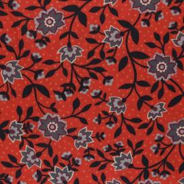 Tissu Liberty State Room Rouge  - Oeko tex