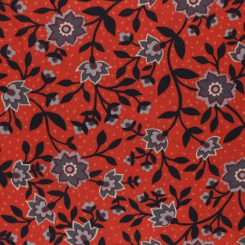 Tissu Liberty State Room Rouge  - Oeko tex