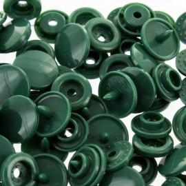 Bouton pression résine diam. 13mm - vert sapin - lot de 30