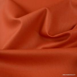 Tissu Popeline coton oeko tex uni Terracotta - Oeko tex