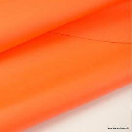 Tissu Gabardine enduite étanche Orange