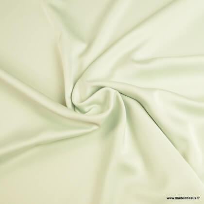 Tissu Satin microfibre fluide menthe claire