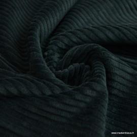 Tissu Velours cotelé grosses côtes vert bouteille foncé