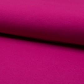 Tissu jersey Bio coloris Fuchsia - Oeko tex et Organic