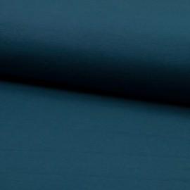 Tissu jersey Bio coloris Pétrole - Oeko tex et Organic