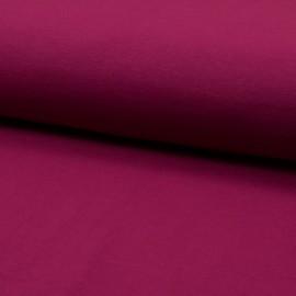 Tissu jersey Bio coloris Framboise - Oeko tex et Organic