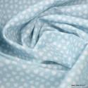 Tissu coton Motif Lipelo fond bleu Artic - Oeko tex
