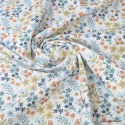 Tissu coton imprimé petites fleurs Bleu Artic et Muscade -  Oeko tex - Motif Milly