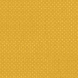 Tissu coton Enduit motifs Pois blanc fond Jaune -  Oeko tex